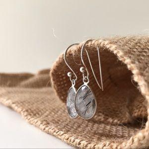 NEW Sterling Silver Tourmalated Quartz Earrings